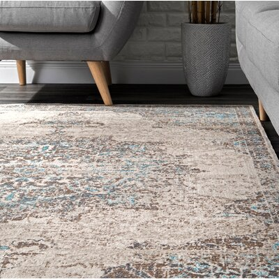 Cauthen Beige Area Rug Rug Size: Rectangle 5 x 75