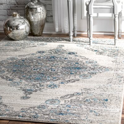 Causeway Light Blue Area Rug Rug Size: Rectangle 8 x 10