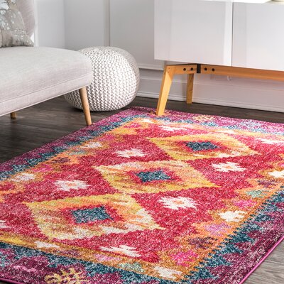 Caver Pink Area Rug Rug Size: Rectangle 5 x 8