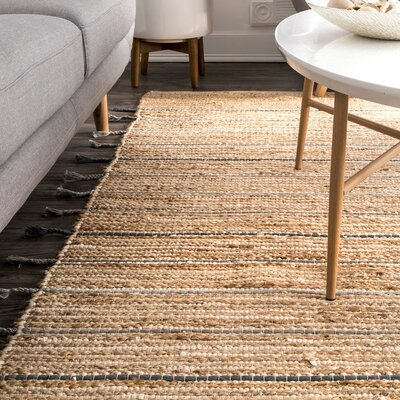 Cazares Natural/Gold Area Rug Rug Size: Rectangle 76 x 96
