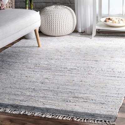 Linzy Cotton Gray Area Rug Rug Size: Rectangle 5 x 8
