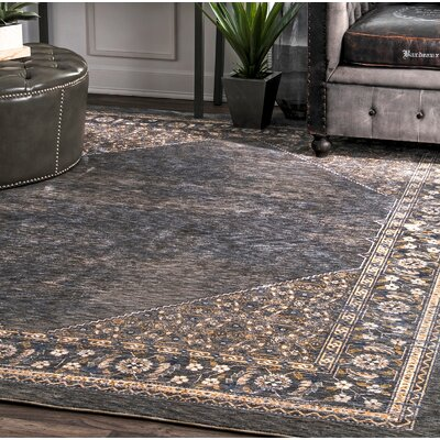 Cecere Dark Gray Area Rug Rug Size: Rectangle 76 x 96