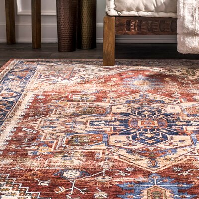 Cedarville Rust/Gold Area Rug Rug Size: Rectangle 4 x 6