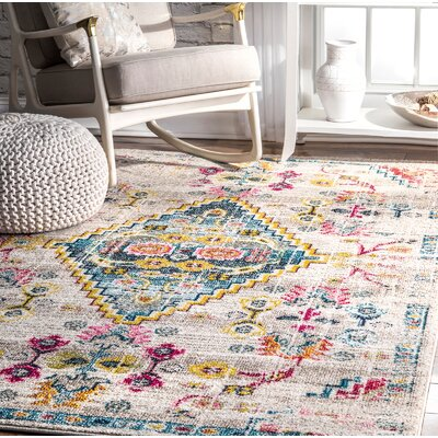 Cendejas Ivory Area Rug Rug Size: Rectangle 9 x 12