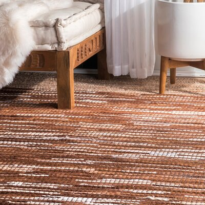 Olander Hand-Woven Light Brown Area Rug Rug Size: Runner 2'6