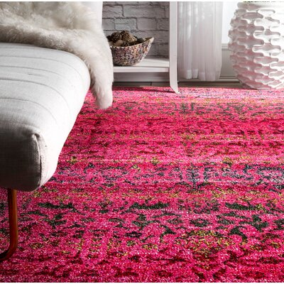 Celaya Red Area Rug Rug Size: Rectangle 8 x 10
