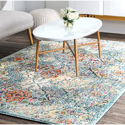 Cedeno Light Blue Area Rug Rug Size: Rectangle 5 x 8