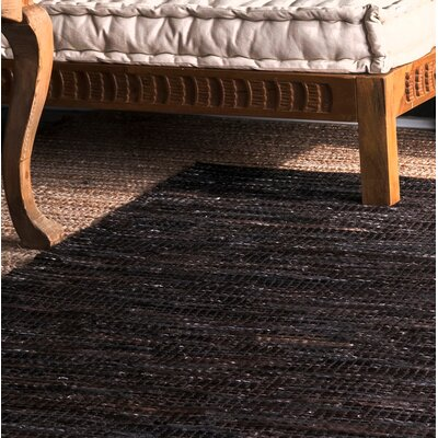 Olaughlin Hand-Woven Dark Brown Area Rug Rug Size: Runner 2'6