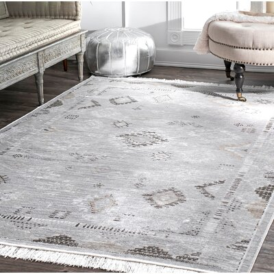 Centeno Silver Area Rug Rug Size: Rectangle 76 x 96