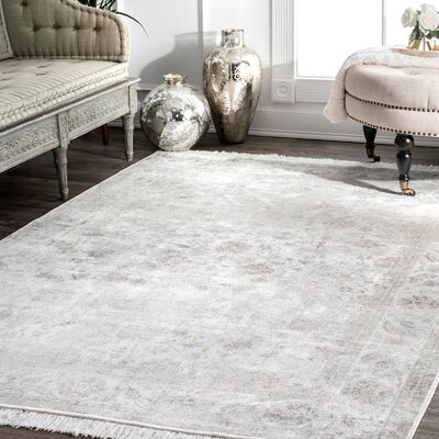 Center Drive Ivory Area Rug Rug Size: Rectangle 6 x 9