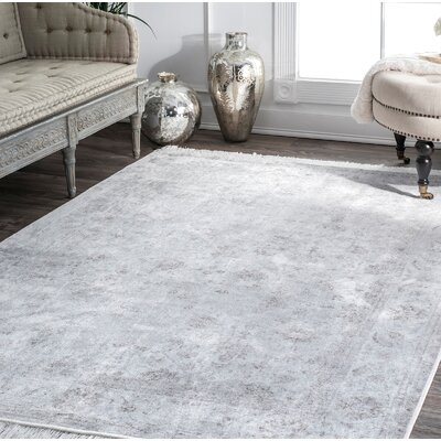 Centers Silver Area Rug Rug Size: Rectangle 76 x 96