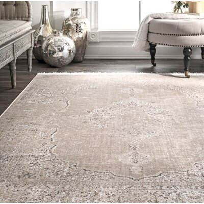 Cepeda Beige Area Rug Rug Size: Rectangle 9 x 12