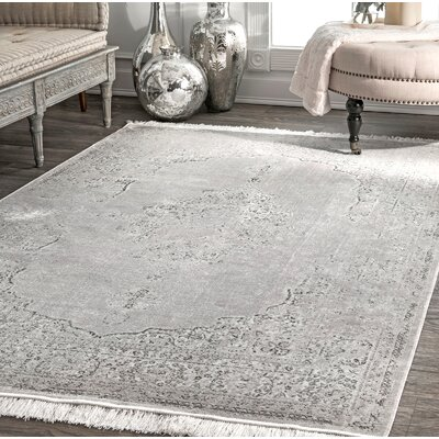 Cephas Silver Area Rug Rug Size: Rectangle 76 x 96