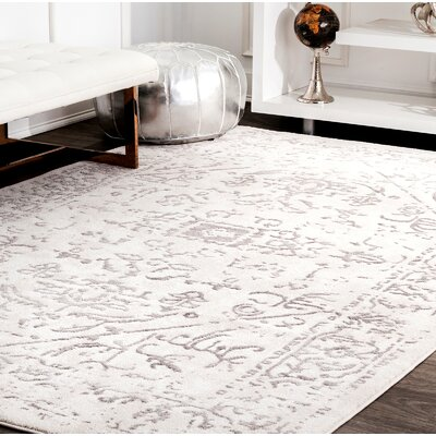 Cerda Ivory Area Rug Rug Size: Rectangle 8 x 10