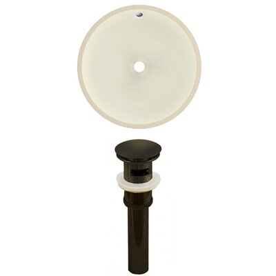 Ceramic Round Undermount Bathroom Sink with Overflow Drain Finish: Oil Rubbed Bronze