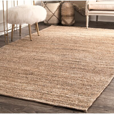 Wrexham Hand-Woven Light Brown Area Rug Rug Size: Round 6