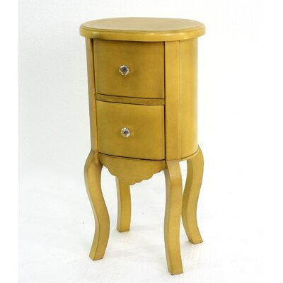 Jolien Funny Doll-like Wooden End Table Color: Yellow