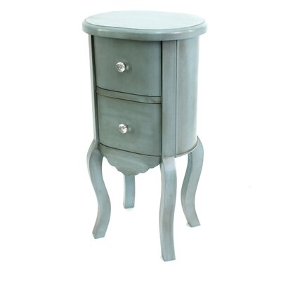 Jolien Funny Doll-like Wooden End Table Color: Blue