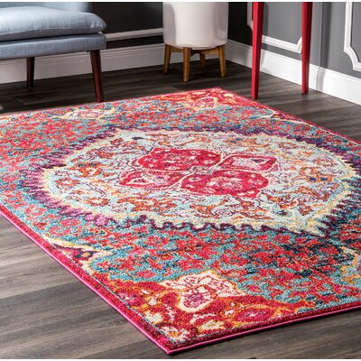 Chagoya Red Area Rug Rug Size: Rectangle 710 x 11