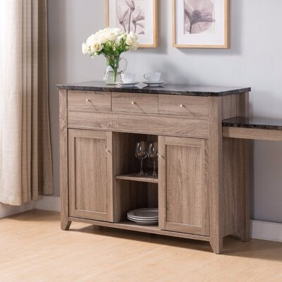 Alberto Wooden Buffet End Table with Storage