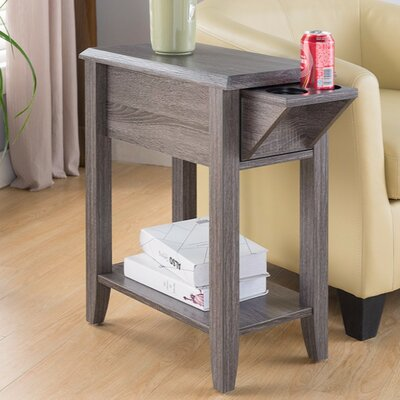 Albertyne End Table with Storage Color: Gray