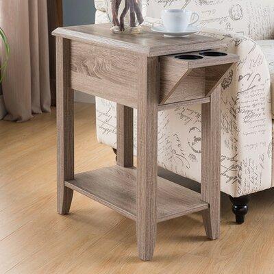 Albertyne End Table with Storage Color: Light Brown