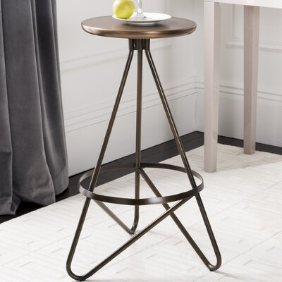 Sterner Bar Stool Color: White/Gold Top