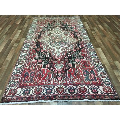 One-of-a-Kind Breonna Hamadan Traditional Hand-Woven Wool Red Area Rug