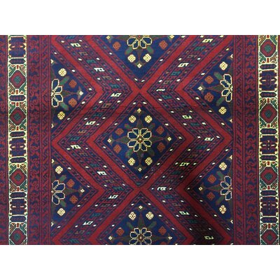 One-of-a-Kind Esperanza Khal Mohammadi Afghan Fade Resistant Hand-Woven Wool Red Area Rug