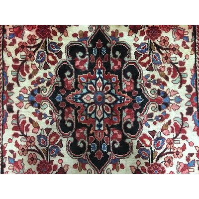 One-of-a-Kind Breonna Hamadan Hamadan Oriental Hand-Woven Rectangle Wool Red Area Rug