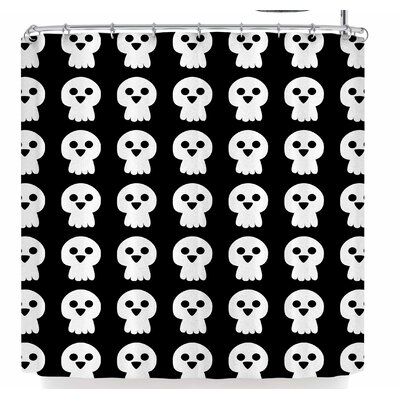 Bruxamagica Cute Halloween Skull Shower Curtain