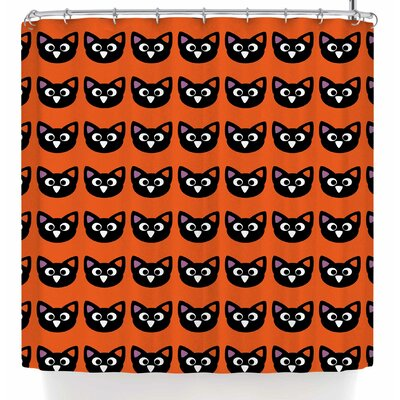 Bruxamagica Cute Cat Halloween Shower Curtain