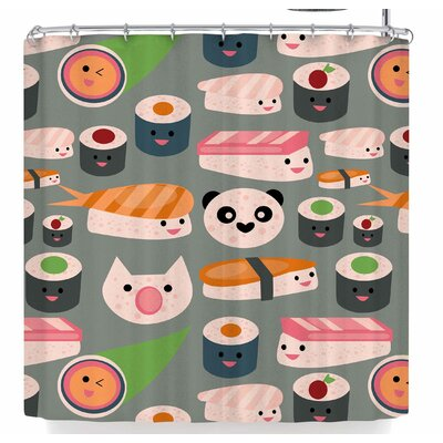 Bruxamagica Kawaii Sushi Shower Curtain
