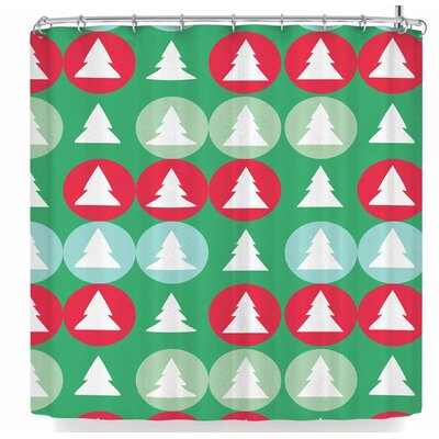 Bruxamagica Holiday Abstract Shower Curtain