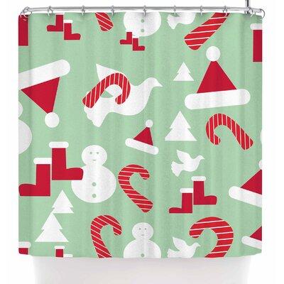 Bruxamagica Christmas Snow Shower Curtain
