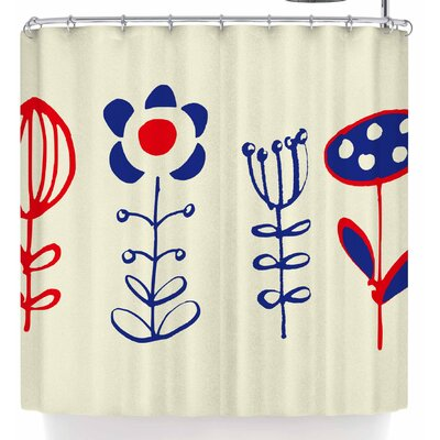 Bruxamagica Folk Flowers Beige Shower Curtain