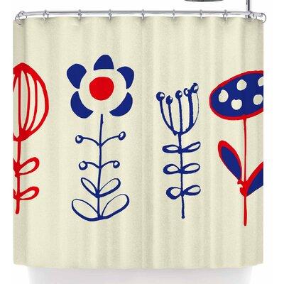 Bruxamagica Folk Flowers Beige Shower Curtain