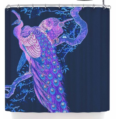 Stephanie Eden Peacock Peahen Shower Curtain