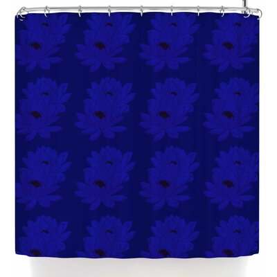 Stephanie Eden Water Lilies Night Shower Curtain