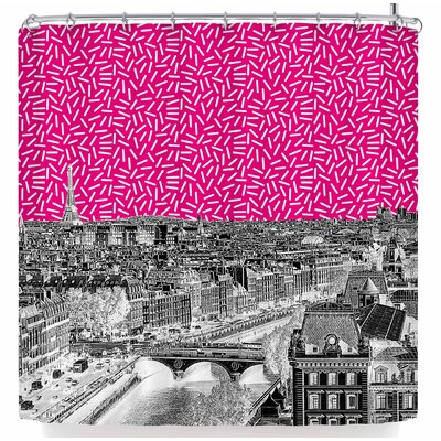 Stephanie Eden Pop Paris Shower Curtain