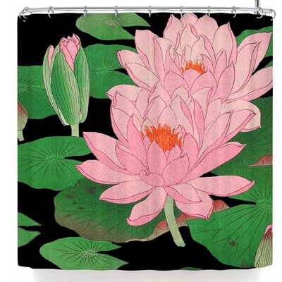 Stephanie Eden Waters Water Lilies Shower Curtain