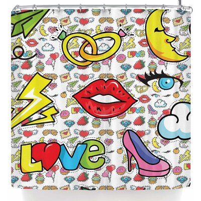 Shirlei Patricia Muniz Retro Shower Curtain
