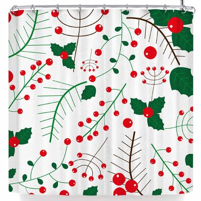 Bruxamagica Mistletoe White Shower Curtain