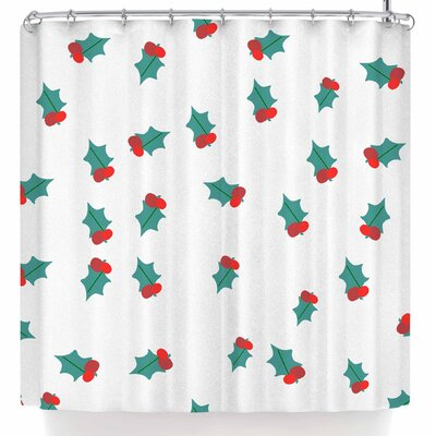 Bruxamagica Ditsy Mistletoe Shower Curtain