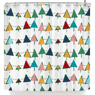 Bruxamagica Cute Colorful Christmas Tree Shower Curtain