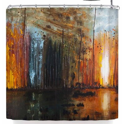 Steven Dix Theres Fire Shower Curtain
