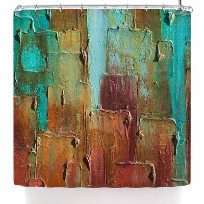 Steven Dix Copper Shale Awash Shower Curtain