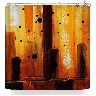 Steven Dix Falling Embers Shower Curtain