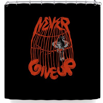 BarmalisiRTB Never Give Up Shower Curtain