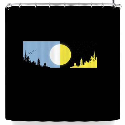 BarmalisiRTB Moon and Sun Shower Curtain